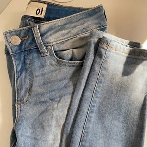 garage skinny cropped jeans mid rise
